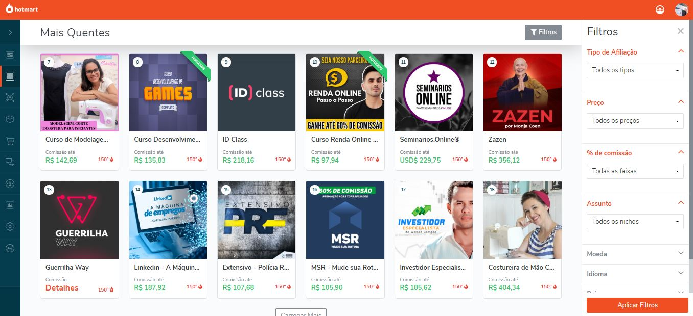 Exemplo de produtos sobre como trabalhar em casa como afiliado - Como Trabalhar em Casa Pela Internet e Ganhar MUITO Dinheiro no Marketing Digital