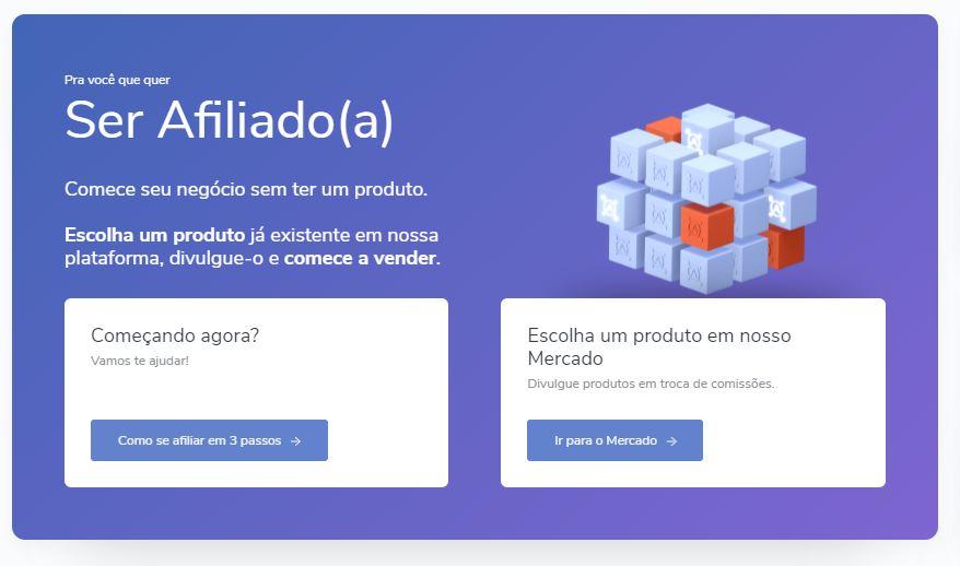 Página inicial da hotmart - Como criar uma Conta na Hotmart para Ser Afiliado de Produtos Digitais
