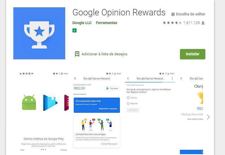 App Google Opinion Rewards - Como Ganhar Dinheiro no Paypal Todo Dia de Forma Fácil