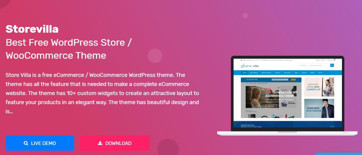 StoreVilla bom tema e commerce para loja virtual wordpress - Melhores Temas Wordpress Grátis em 2020 Por Categorias de Sites