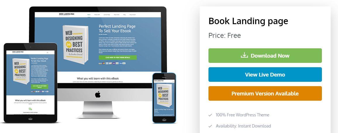 Tema book landing page gratuito para wordpress - Melhores Temas Wordpress Grátis em 2020 Por Categorias de Sites