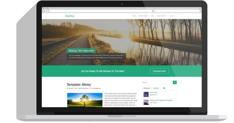 Tema gratuito para blog wordpress dazzling - Melhores Temas Wordpress Grátis em 2020 Por Categorias de Sites